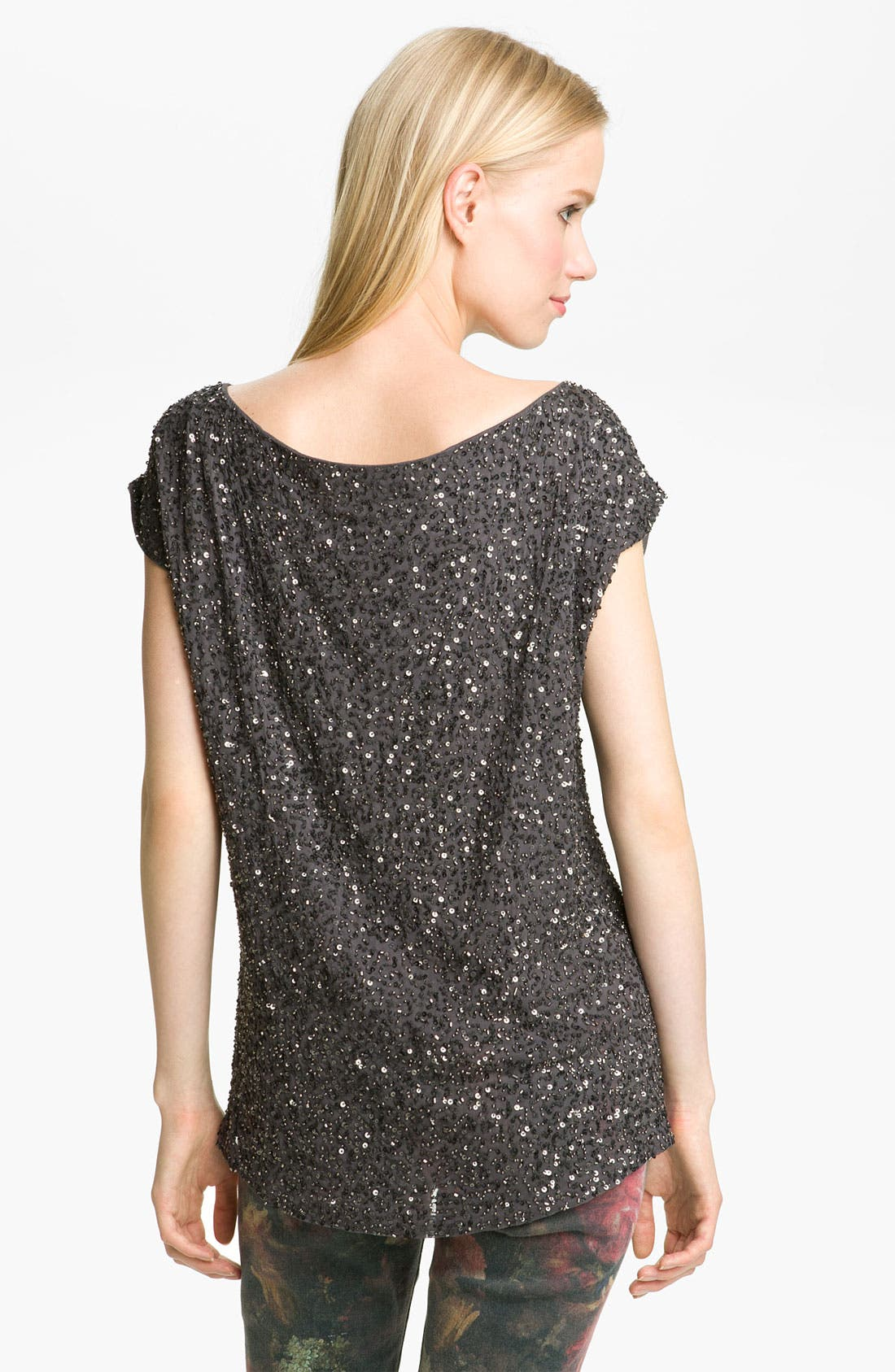 Alternate Image 2  - Haute Hippie Sequin Silk Top