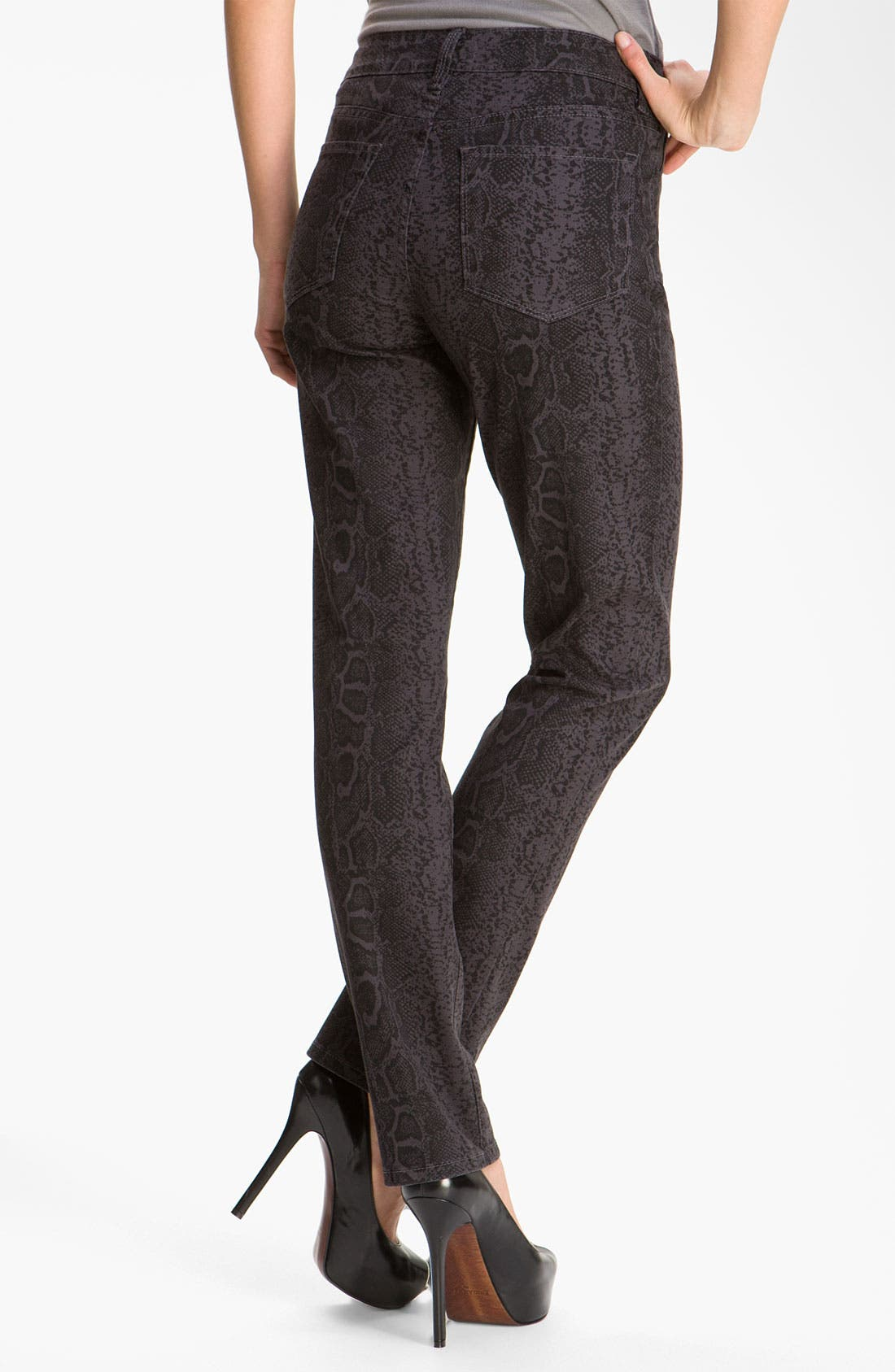 Alternate Image 2  - NYDJ 'Sheri' Python Print Skinny Twill Jeans