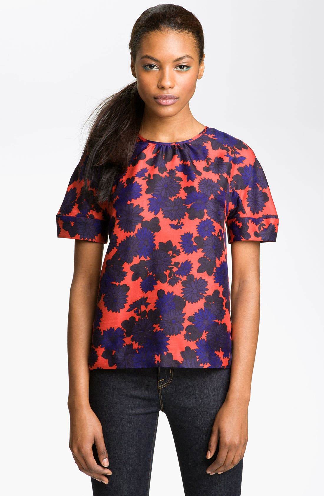 Alternate Image 1 Selected - MARC BY MARC JACOBS 'Onyx' Silk Top