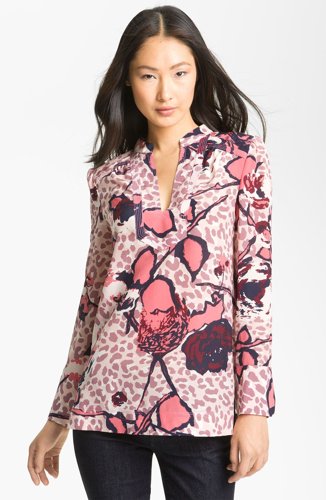 Alternate Image 1 Selected - Tory Burch 'Whitfiels' Print Silk Top