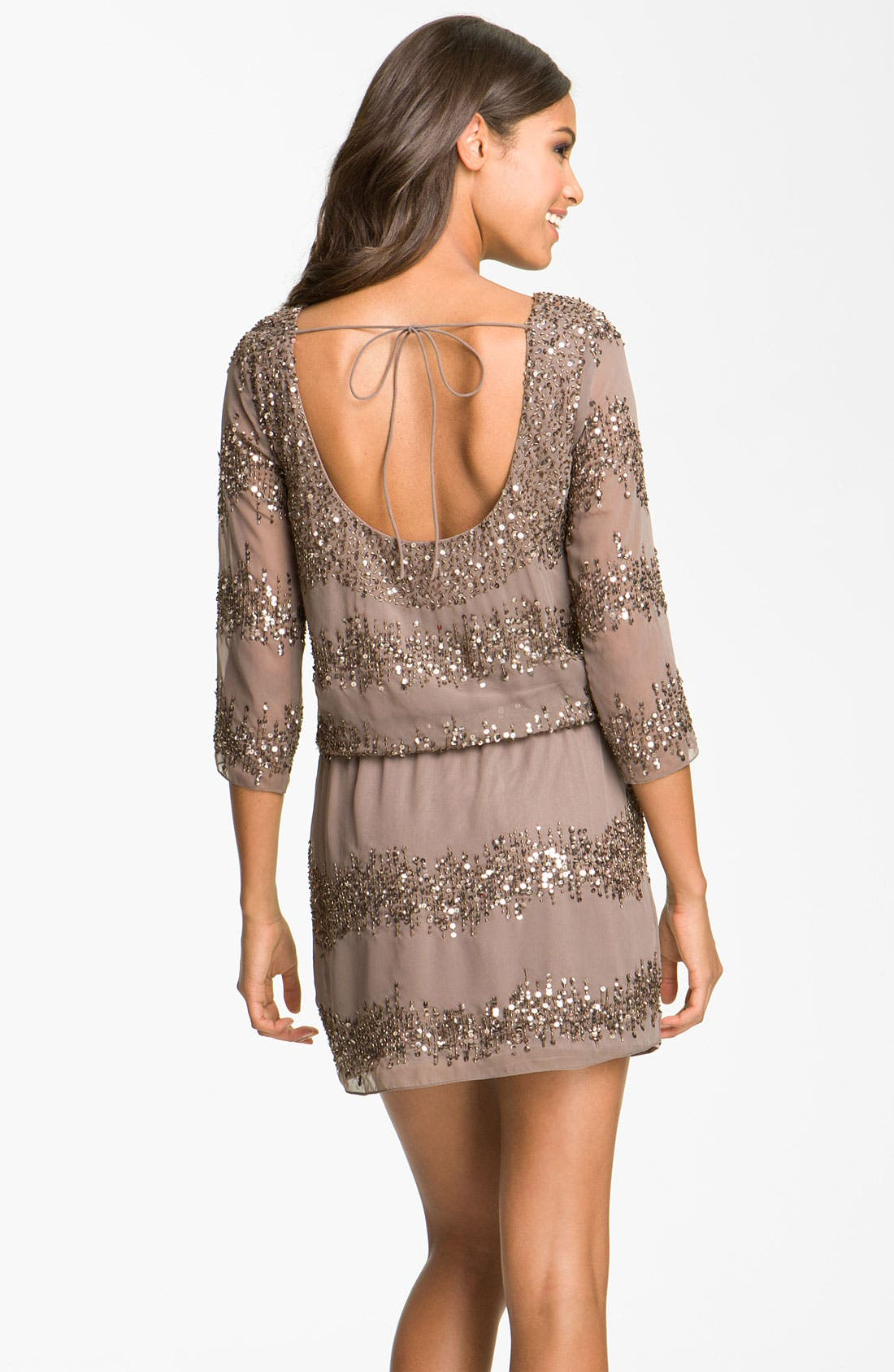 Alternate Image 2  - Adrianna Papell Embellished Scoop Back Blouson Dress