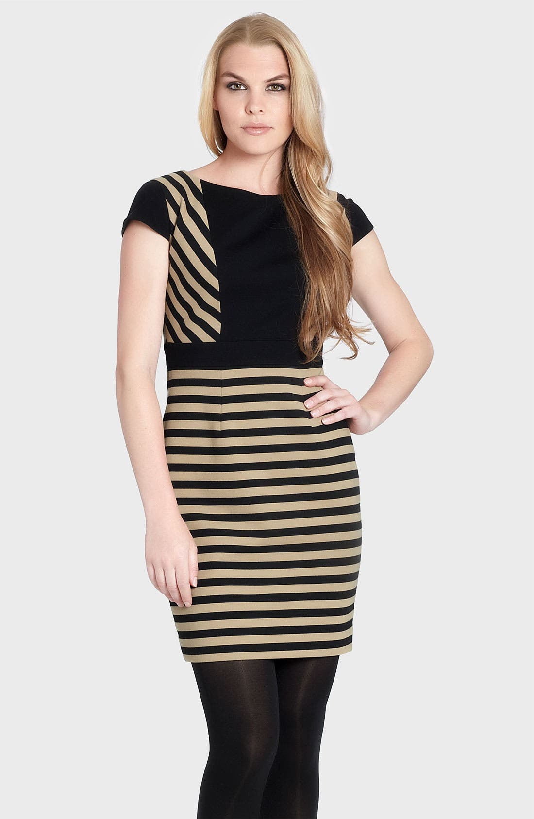 Alternate Image 1 Selected - Cynthia Steffe 'Ramona' Stripe Ponte Sheath Dress