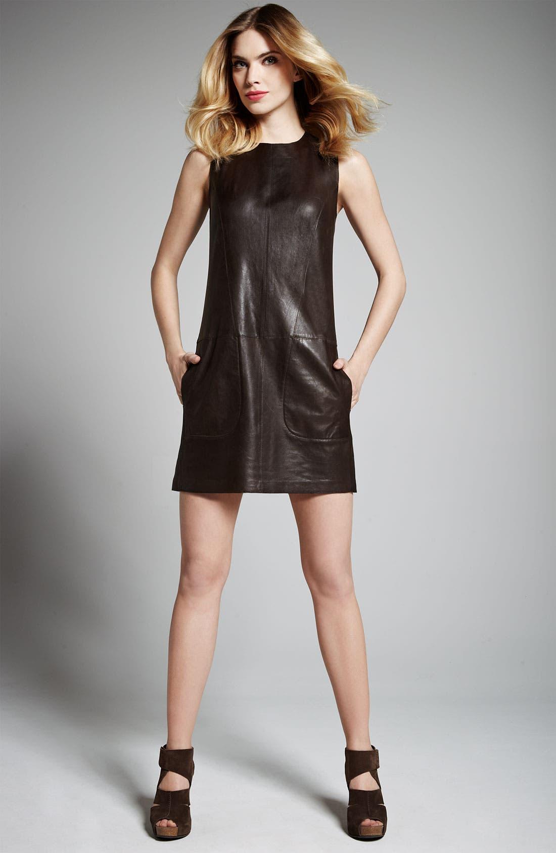 Alternate Image 3  - Vince Leather Shift Dress