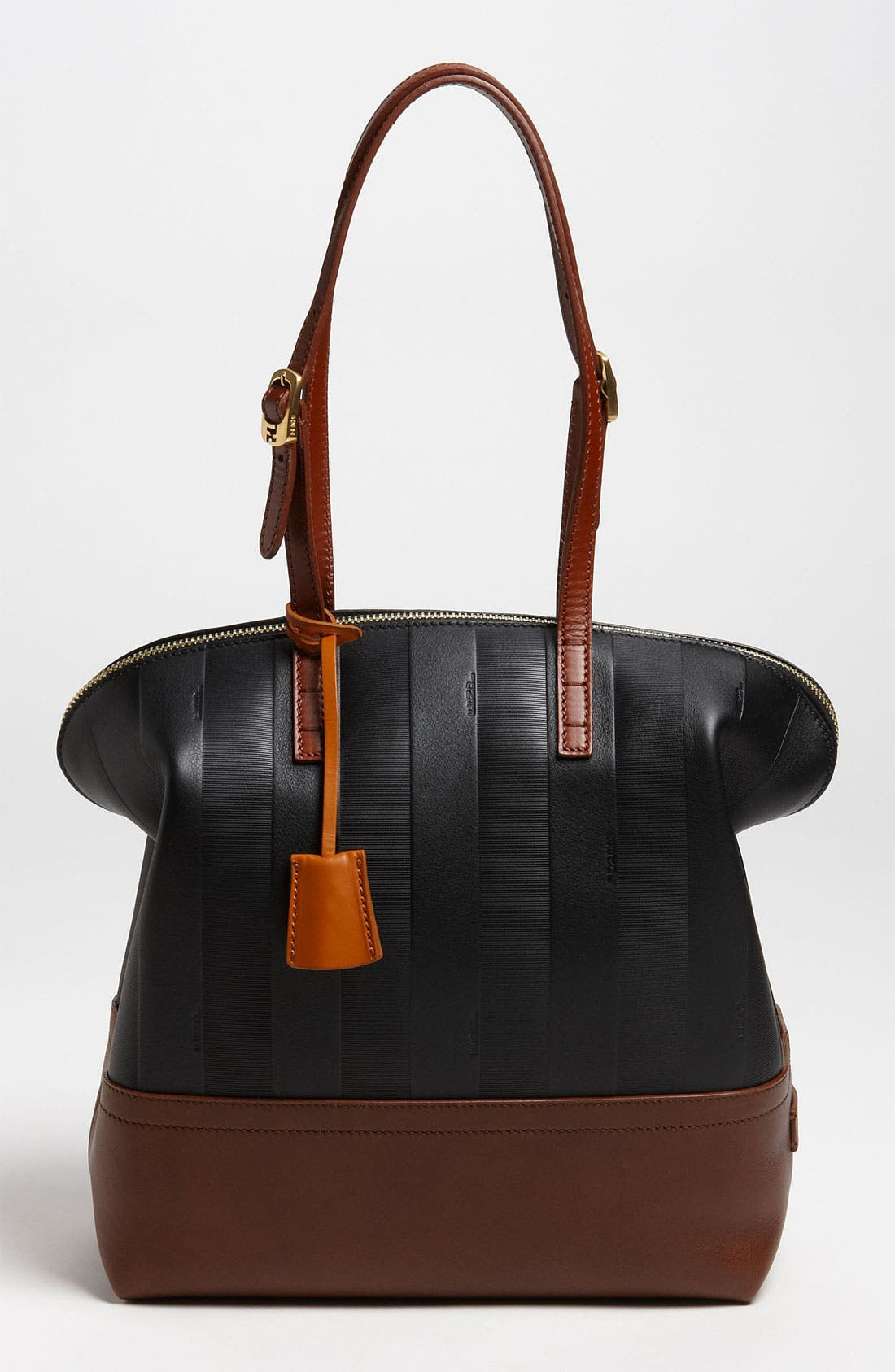 Main Image - Fendi 'Paris Pequin - 2-Way' Leather Shopper