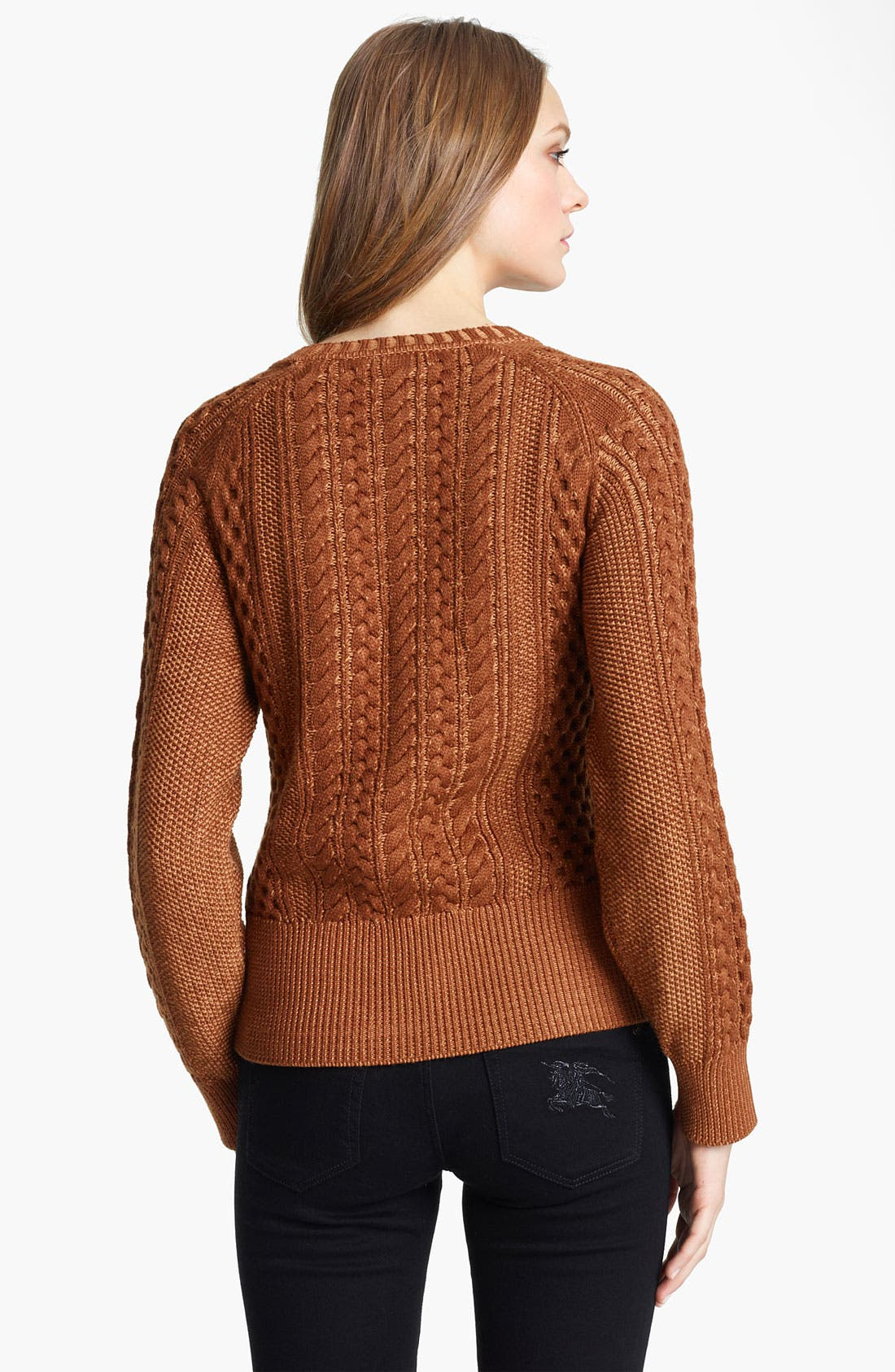 Alternate Image 2  - Burberry Brit Textured Sweater