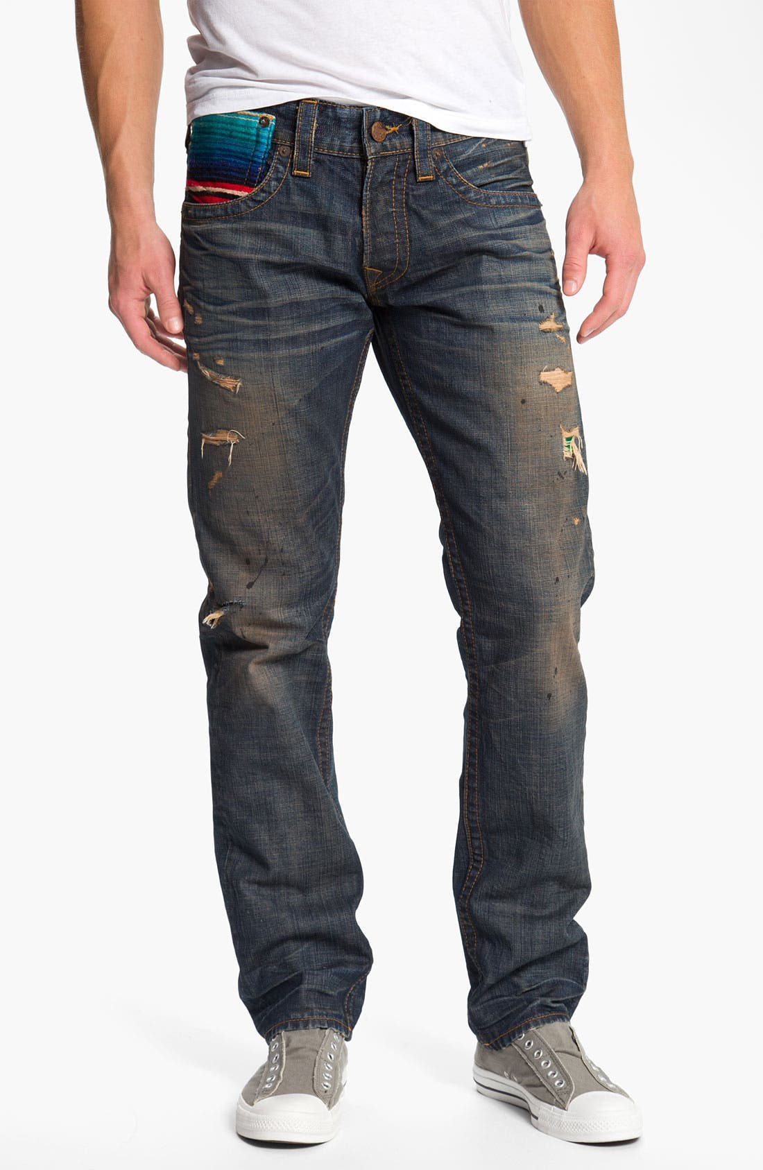 Alternate Image 2  - True Religion Brand Jeans 'Geno Baja' Slim Straight Leg Jeans (Proclamation)