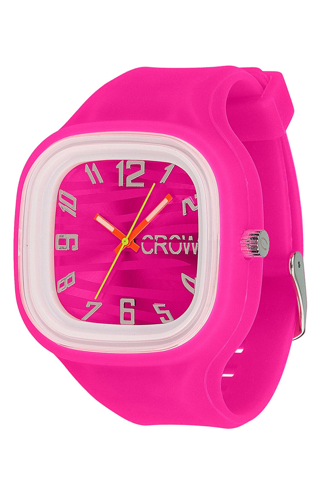 Alternate Image 1 Selected - Crow 'Zebra' Gel Watch