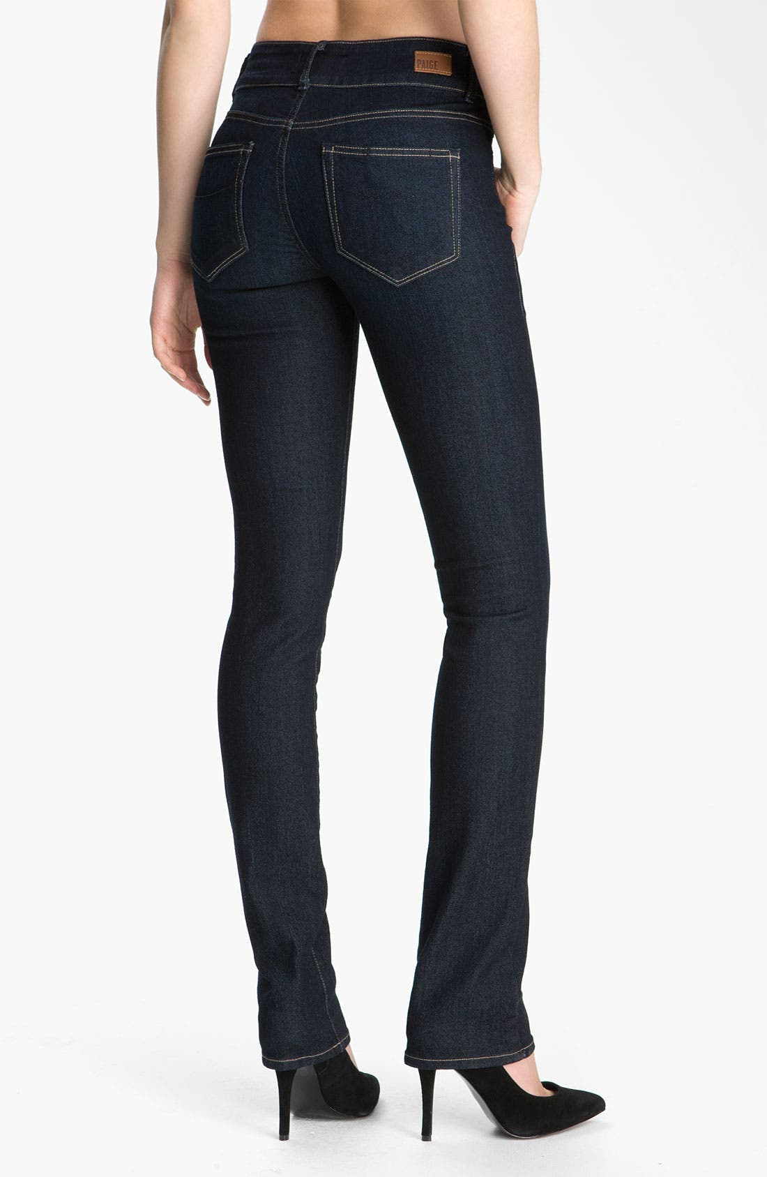 Alternate Image 2  - PAIGE 'Hidden Hills' Straight Leg Stretch Jeans (Fountain)
