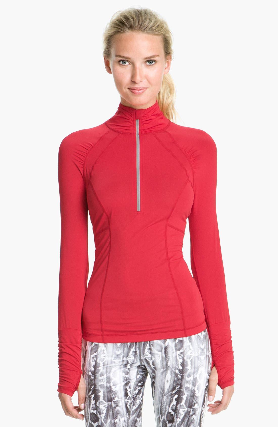 Alternate Image 1 Selected - Zella 'Micro Jersey' Half Zip Pullover