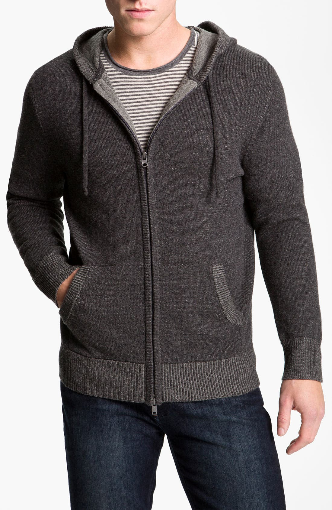 Alternate Image 1 Selected - Vince Wool & Cashmere Knit Hooded Sweater