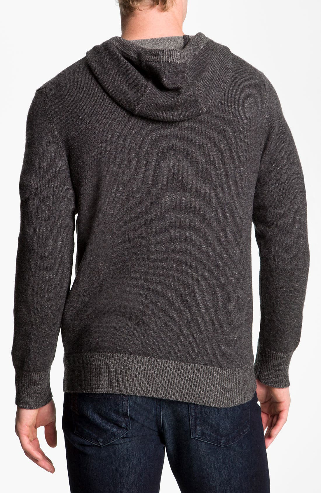 Alternate Image 2  - Vince Wool & Cashmere Knit Hooded Sweater