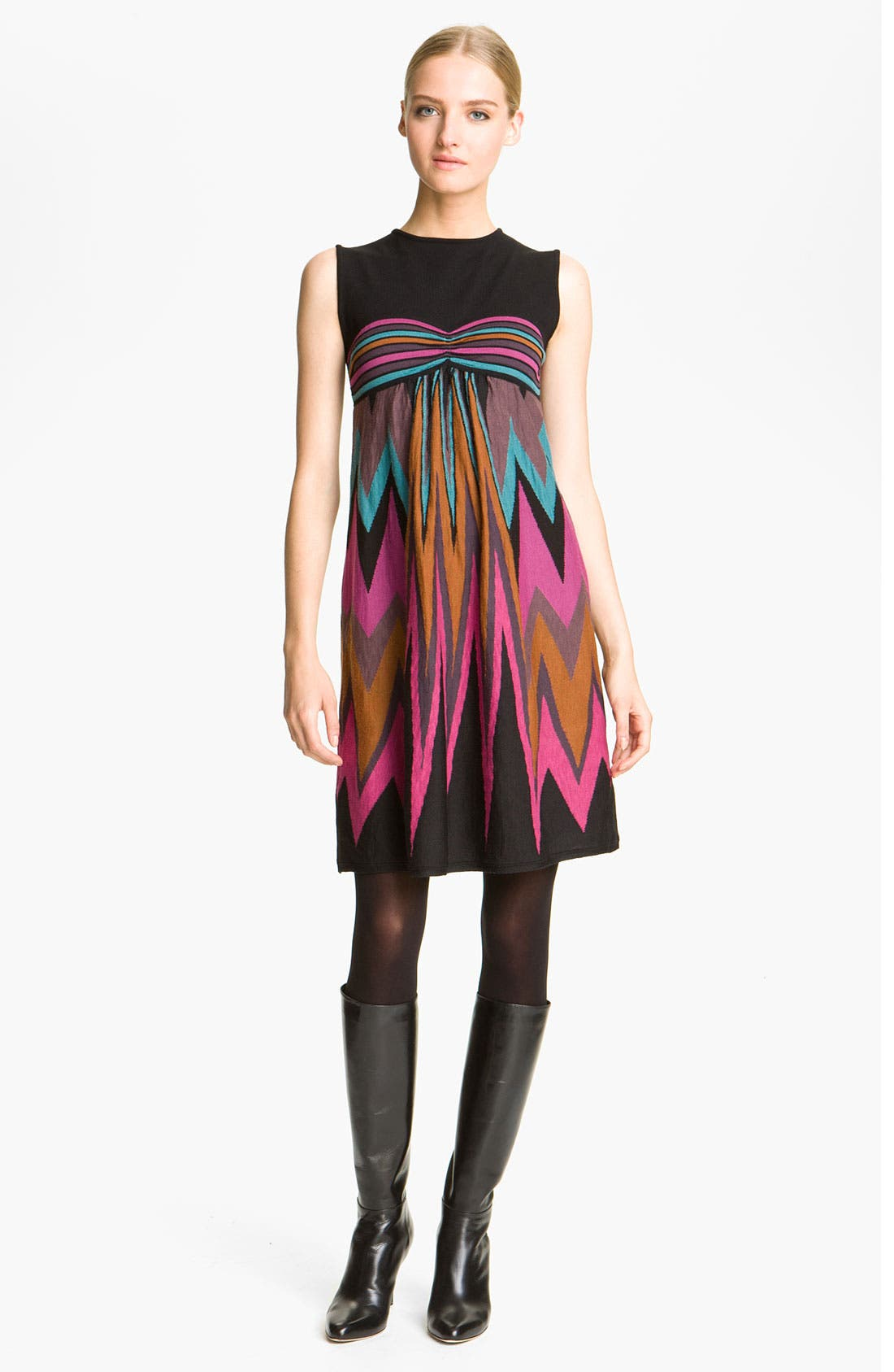 Main Image - M Missoni Graphic Zigzag Intarsia Dress