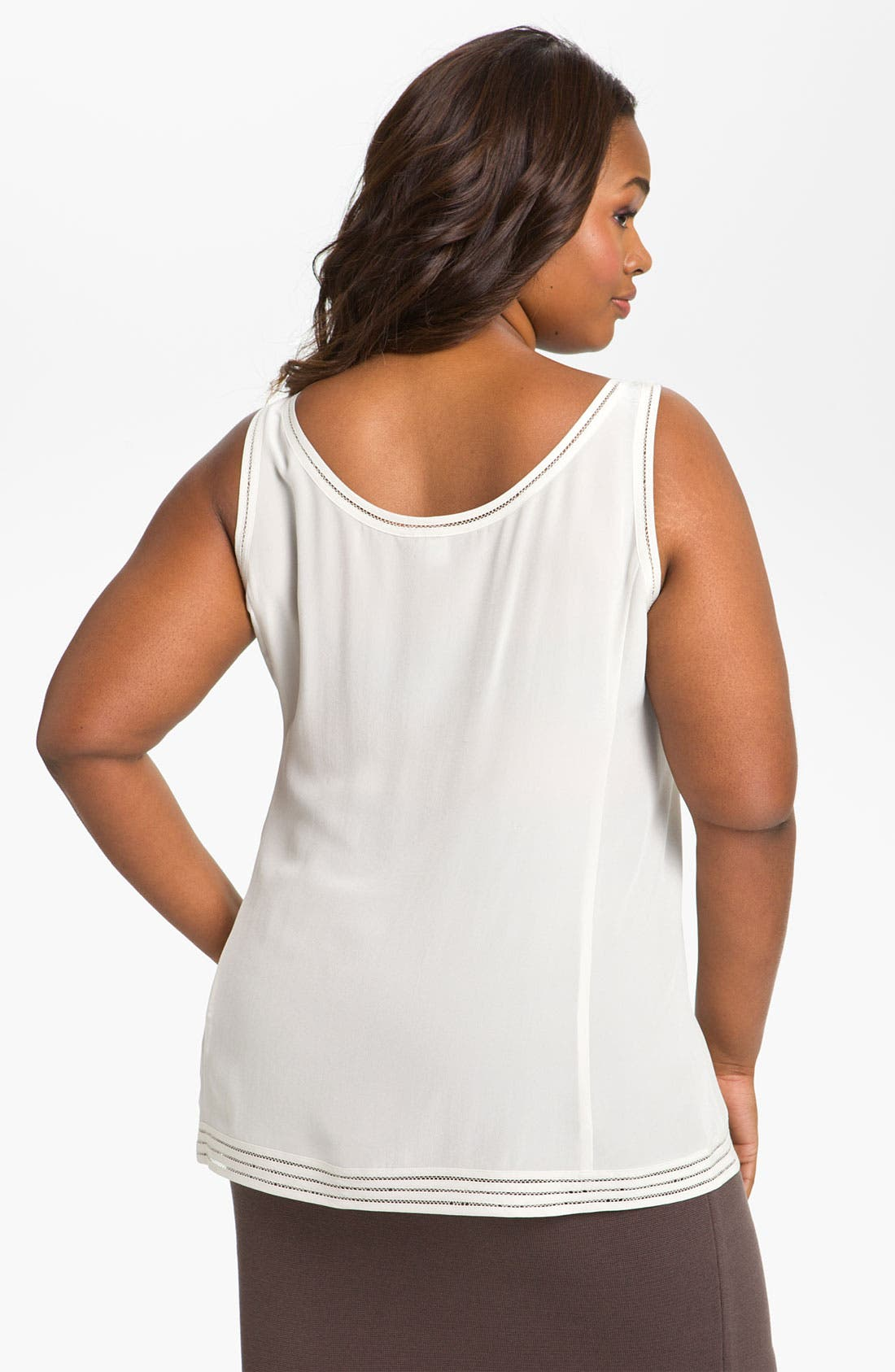 Alternate Image 2  - Eileen Fisher Silk Tank (Plus)