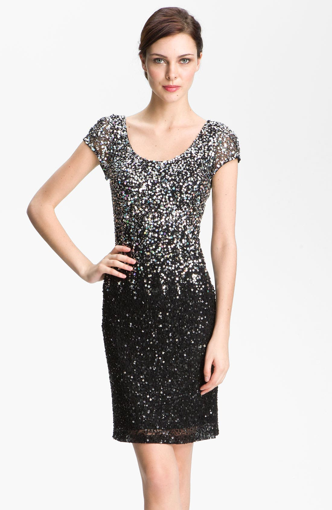 Main Image - JS Boutique Scoop Neck Embellished Sheath Dress