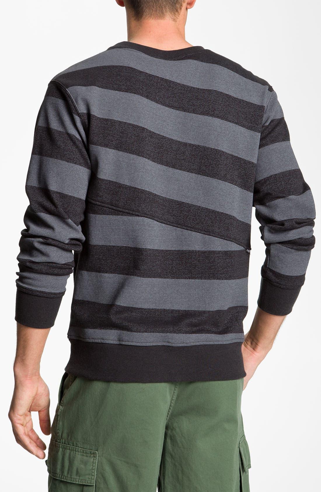 Alternate Image 2  - Volcom 'Eds' Stripe Crewneck Sweatshirt