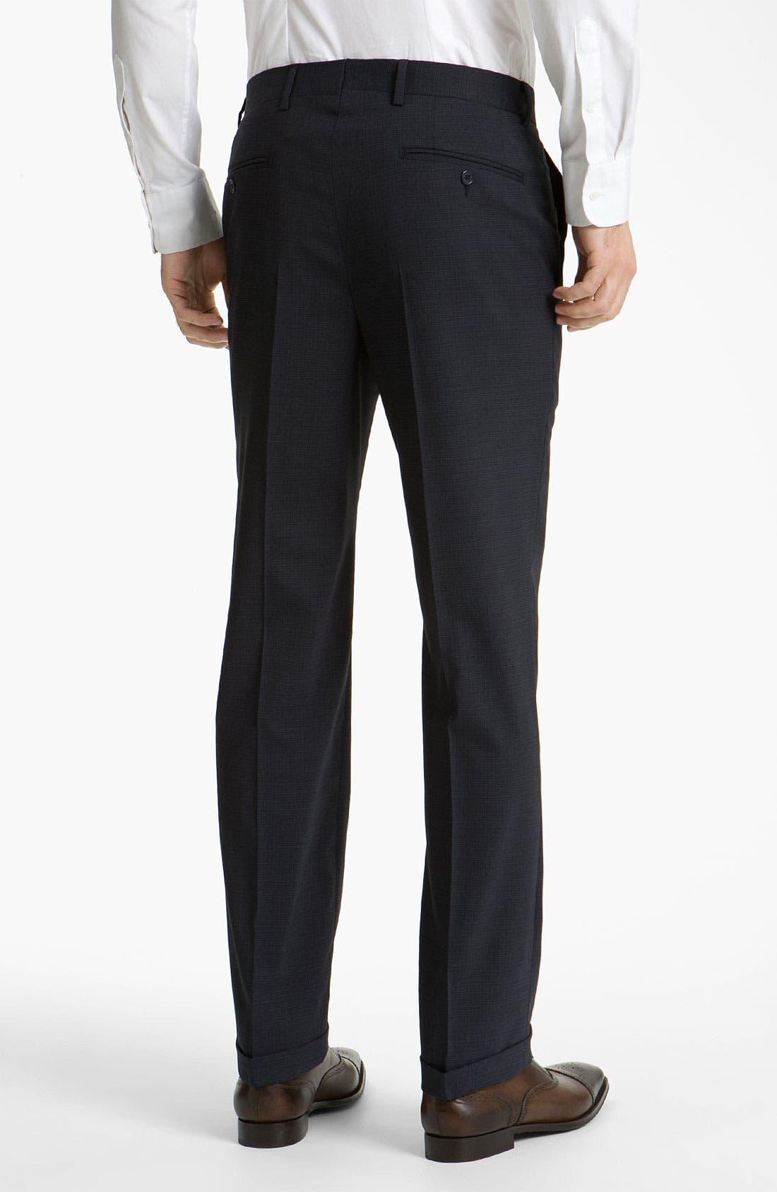 Alternate Image 2  - Santorelli Flat Front Trousers