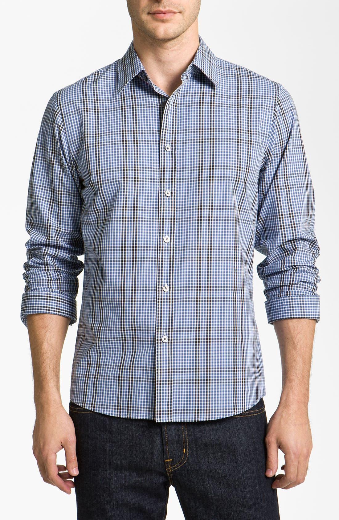 Alternate Image 1 Selected - Michael Kors 'Spalding' Check Woven Shirt