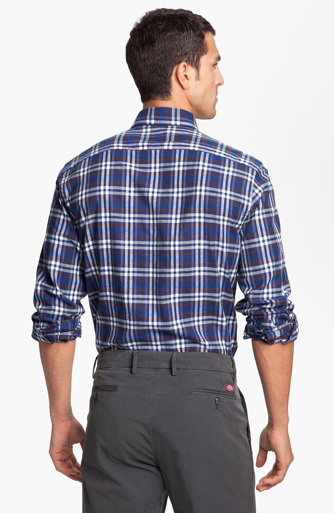 Alternate Image 2  - Mason's Plaid Brushed Cotton Shirt