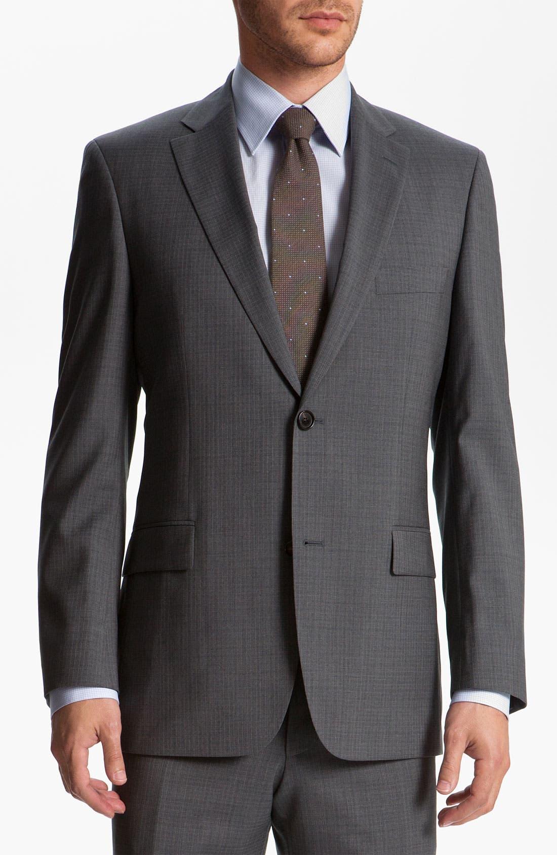Alternate Image 1 Selected - BOSS Black 'Pasolini/Movie' Check Suit