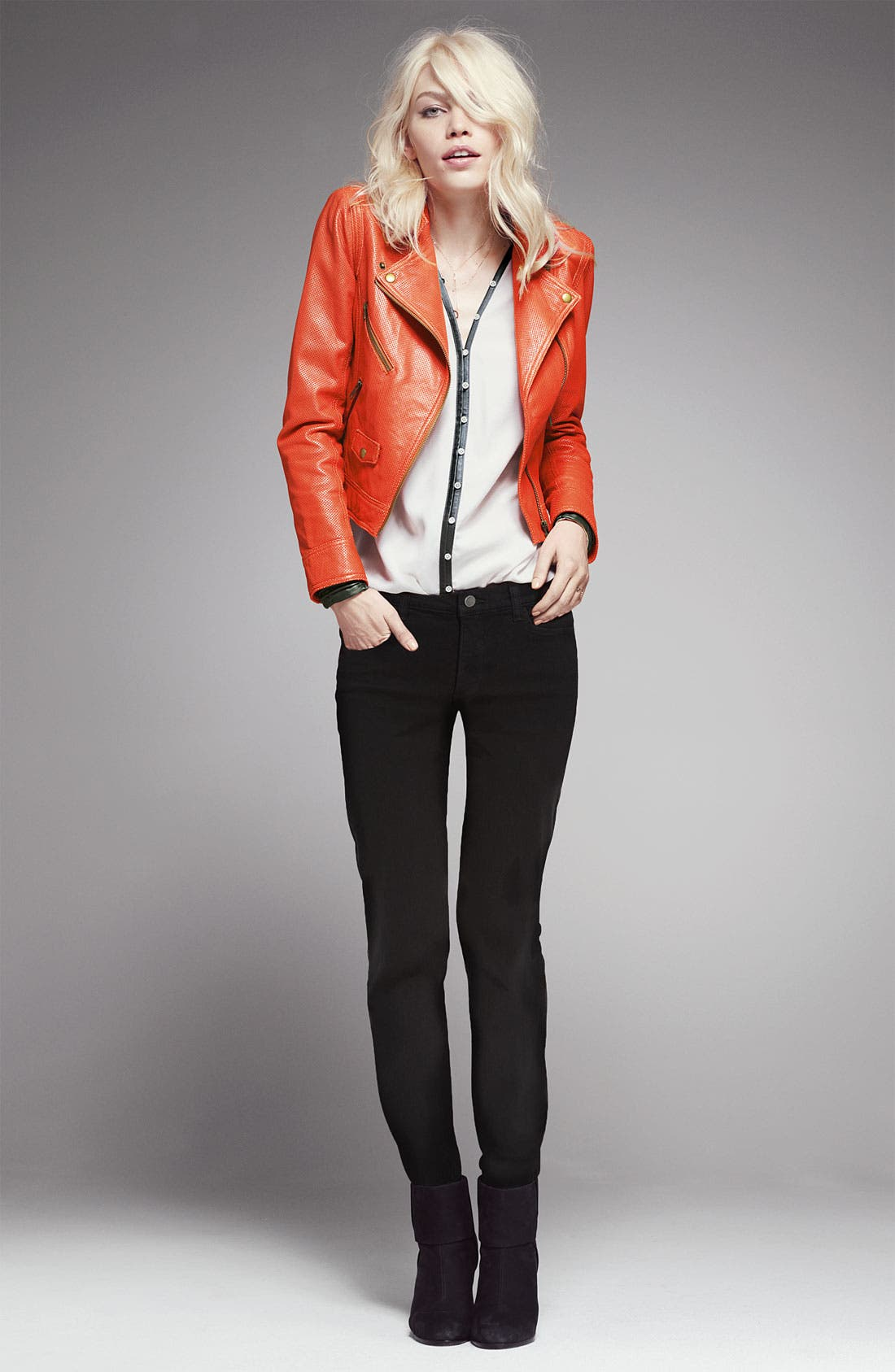 Alternate Image 4  - Truth and Pride Perforated Leather Biker Jacket