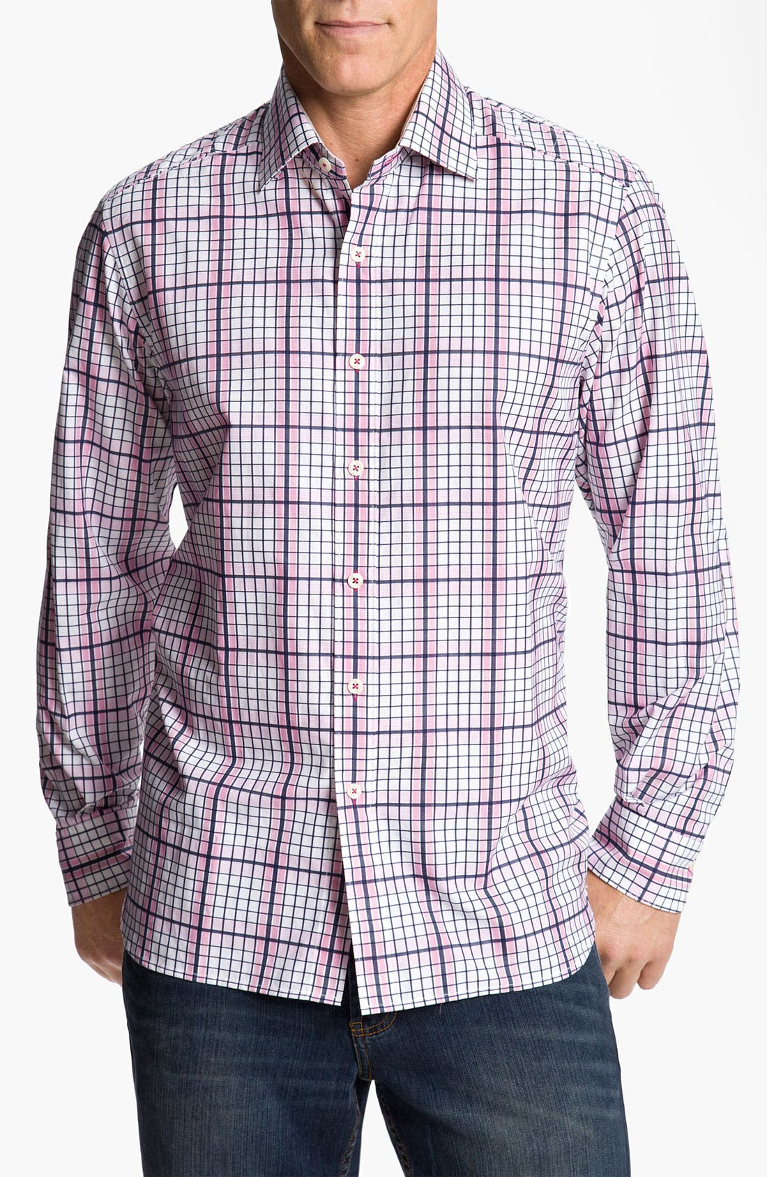 Alternate Image 1 Selected - Tommy Bahama 'Terrace Check' Sport Shirt