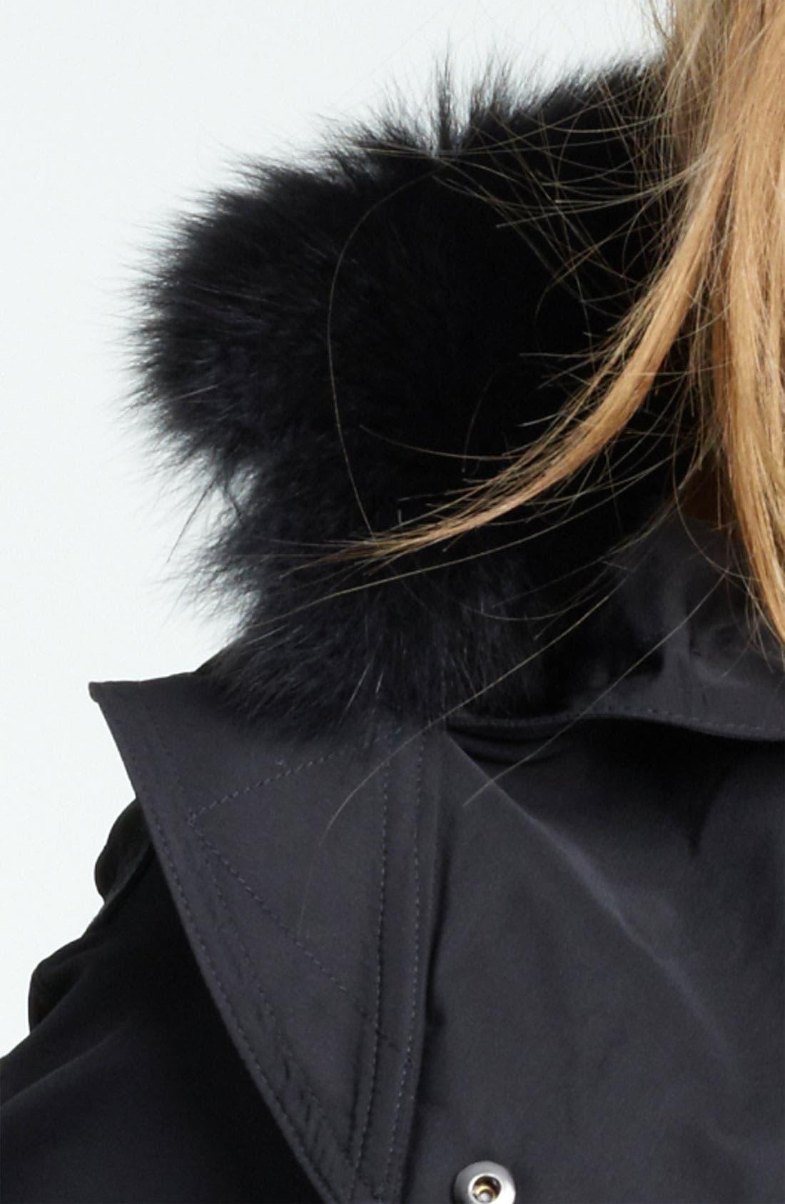 Alternate Image 3  - Burberry Brit Genuine Fox Fur Trim Hooded Anorak