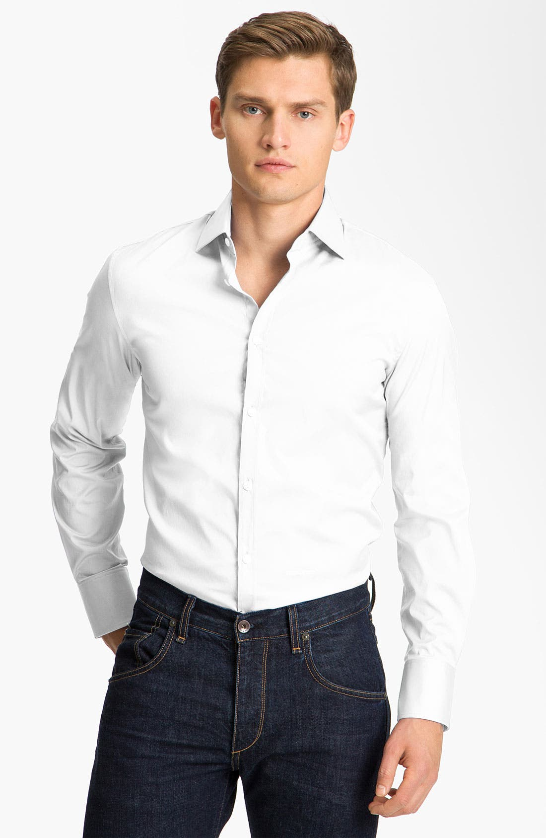 Main Image - Dsquared2 'Dean Dan' Stretch Cotton Dress Shirt