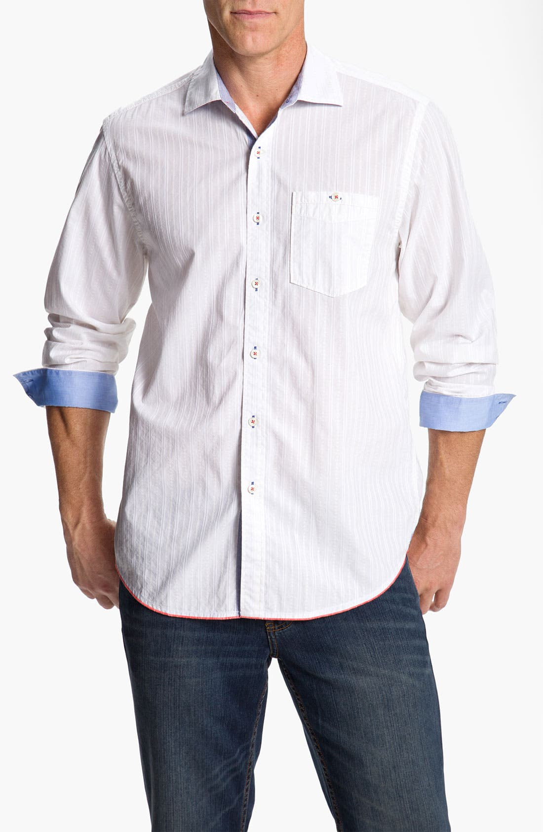 Alternate Image 1 Selected - Tommy Bahama Denim 'Destination Dobby' Sport Shirt