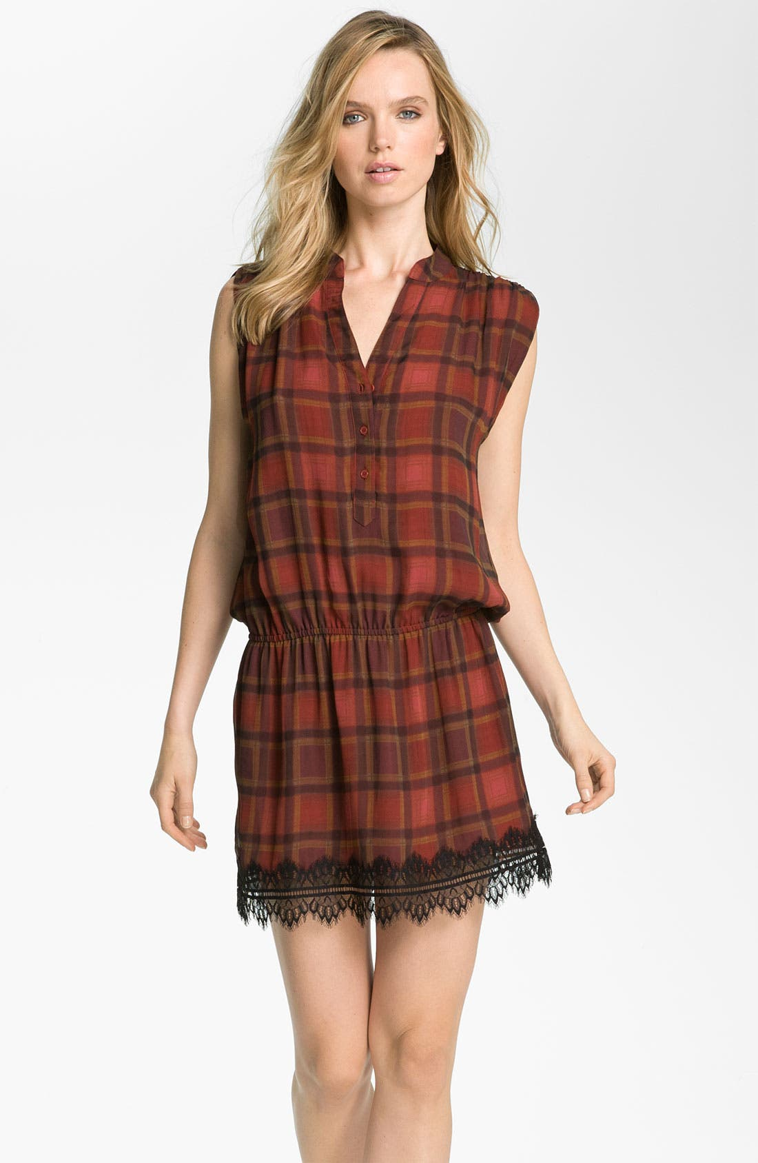 Main Image - Haute Hippie Plaid Drop Waist Dress