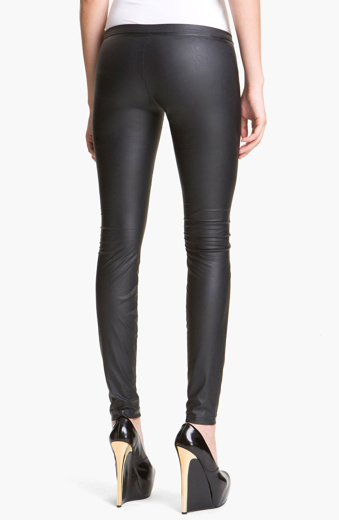Alternate Image 2  - Theyskens' Theory 'Pittell Finap' Faux Leather Leggings