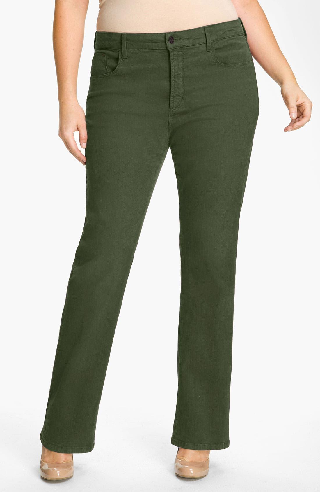 Alternate Image 1 Selected - NYDJ 'Marilyn' Sueded Denim Jeans (Plus)