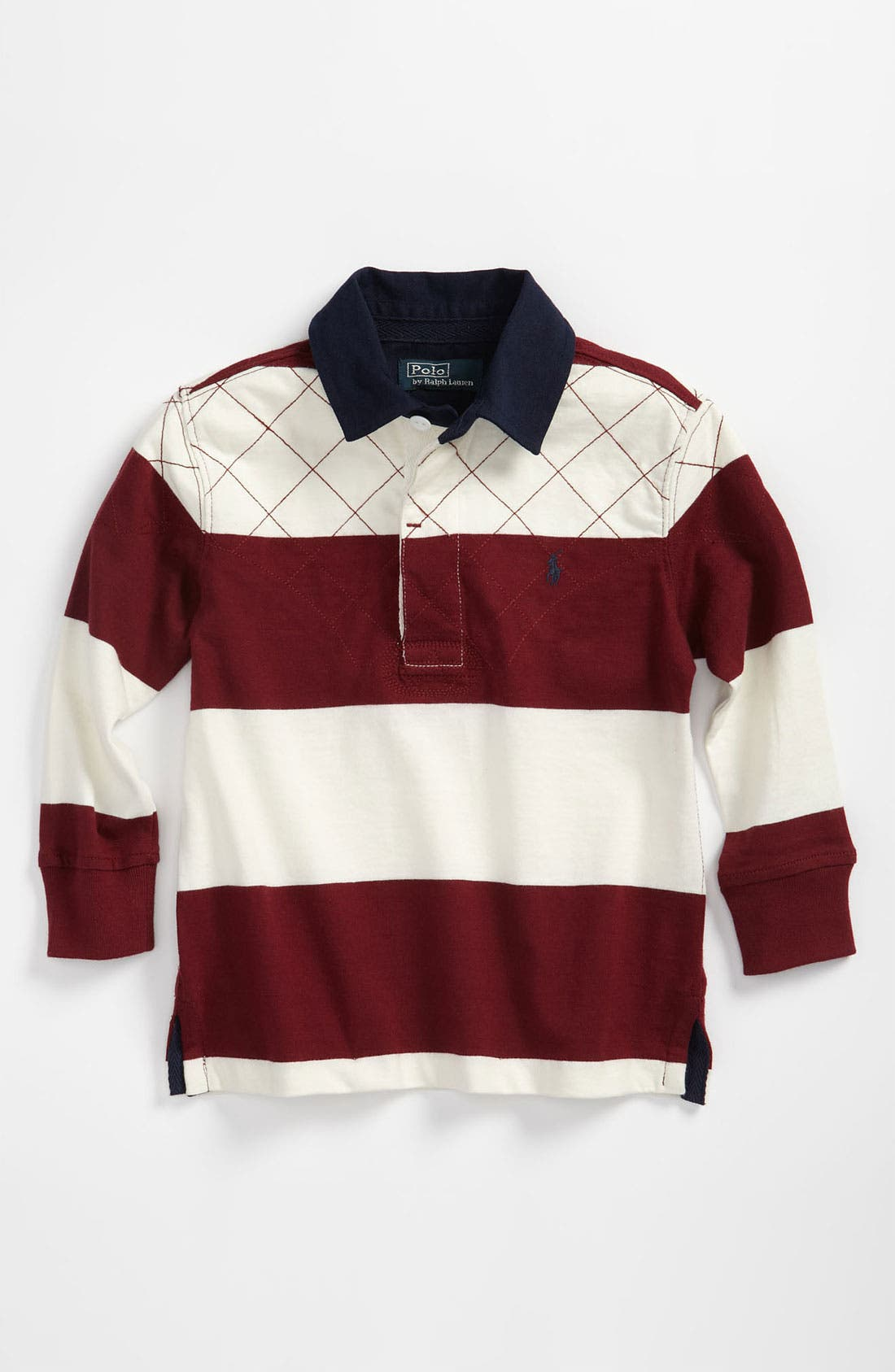 Alternate Image 1 Selected - Ralph Lauren Rugby Stripe Shirt (Toddler)