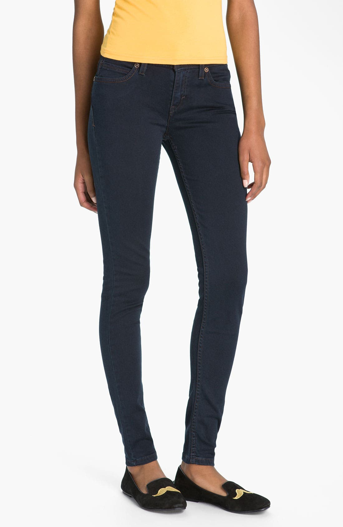 Alternate Image 2  - Levi's Denim Leggings (Indigo Heart Sateen)