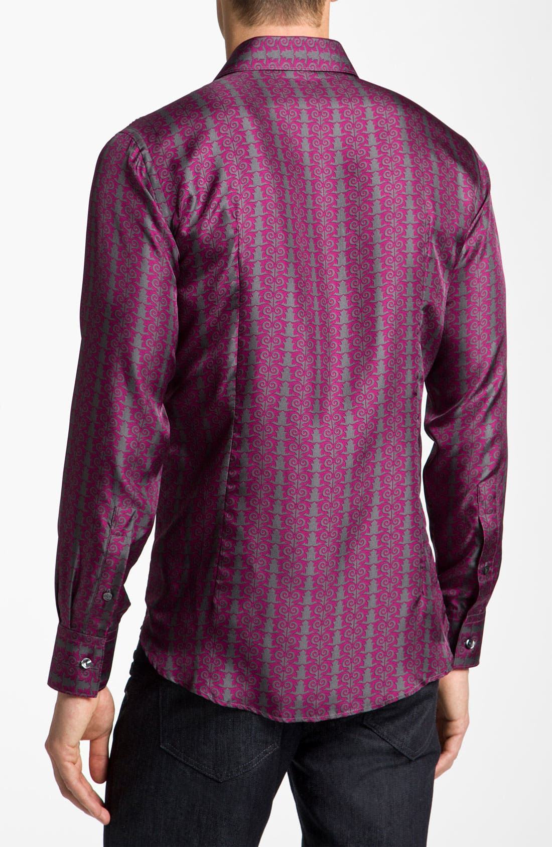 Alternate Image 2  - Versace Silk Sport Shirt