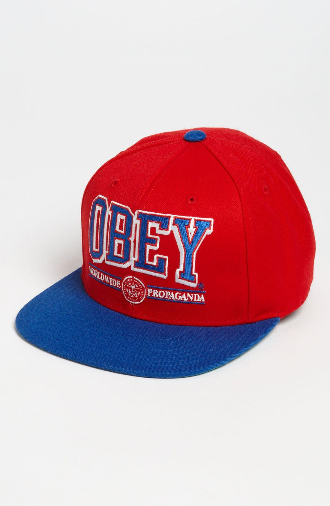 Alternate Image 1 Selected - Obey 'Athletics' Baseball Cap