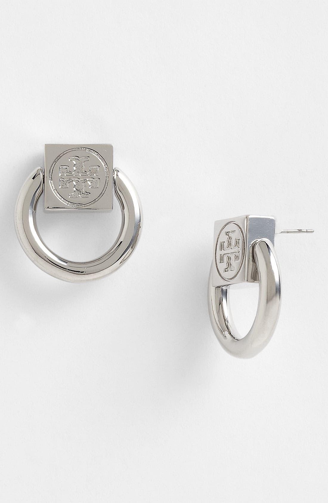 Main Image - Tory Burch 'Varden' Logo Drop Earrings