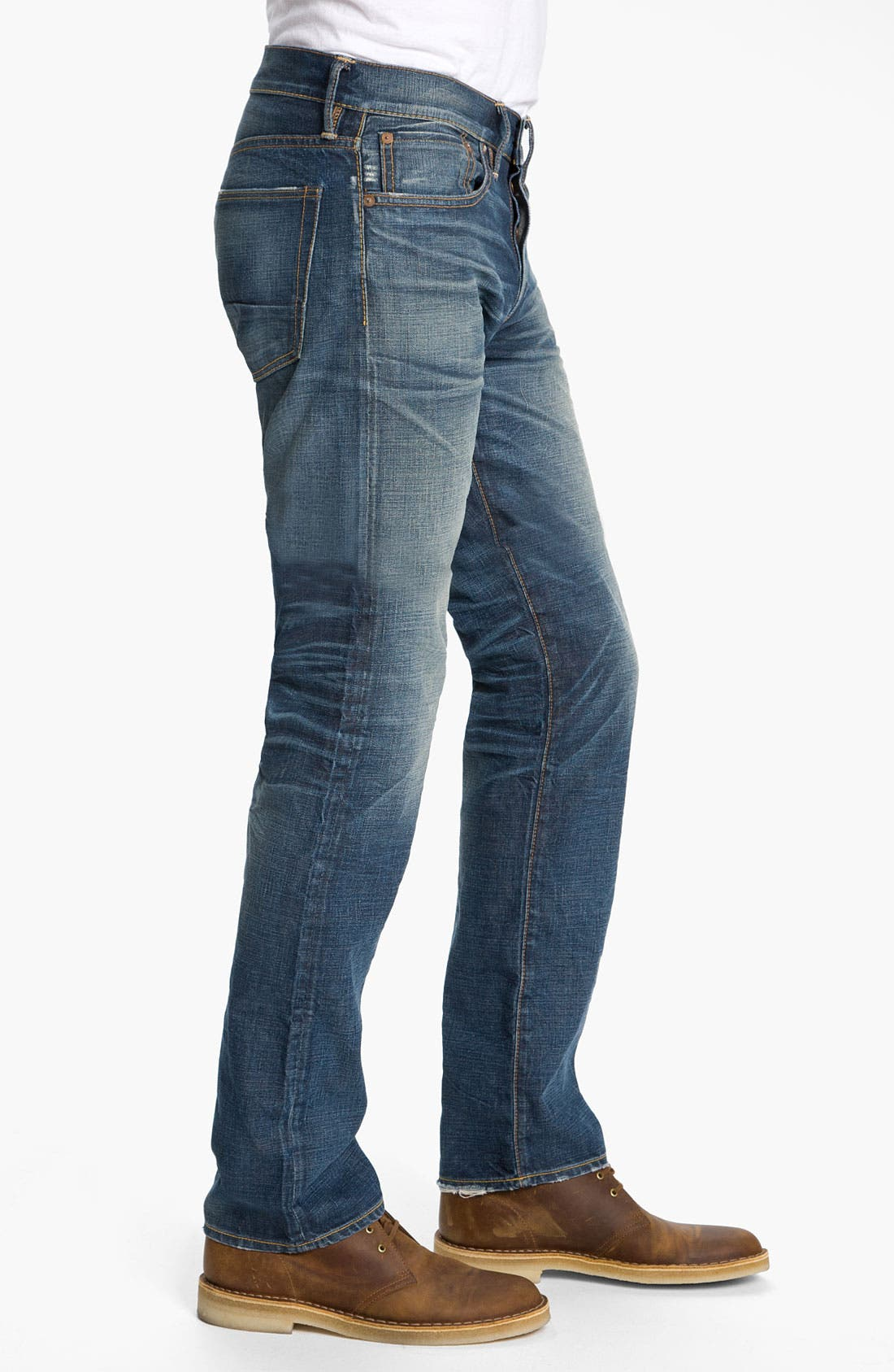 Alternate Image 3  - NSF Clothing Straight Leg Jeans (Reno)