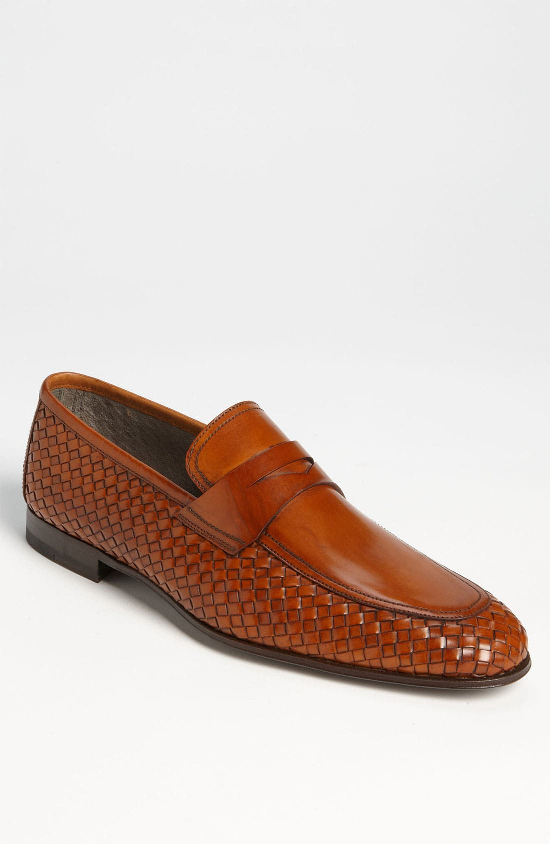 Main Image - Magnanni 'Oliver' Woven Penny Loafer (Online Only)