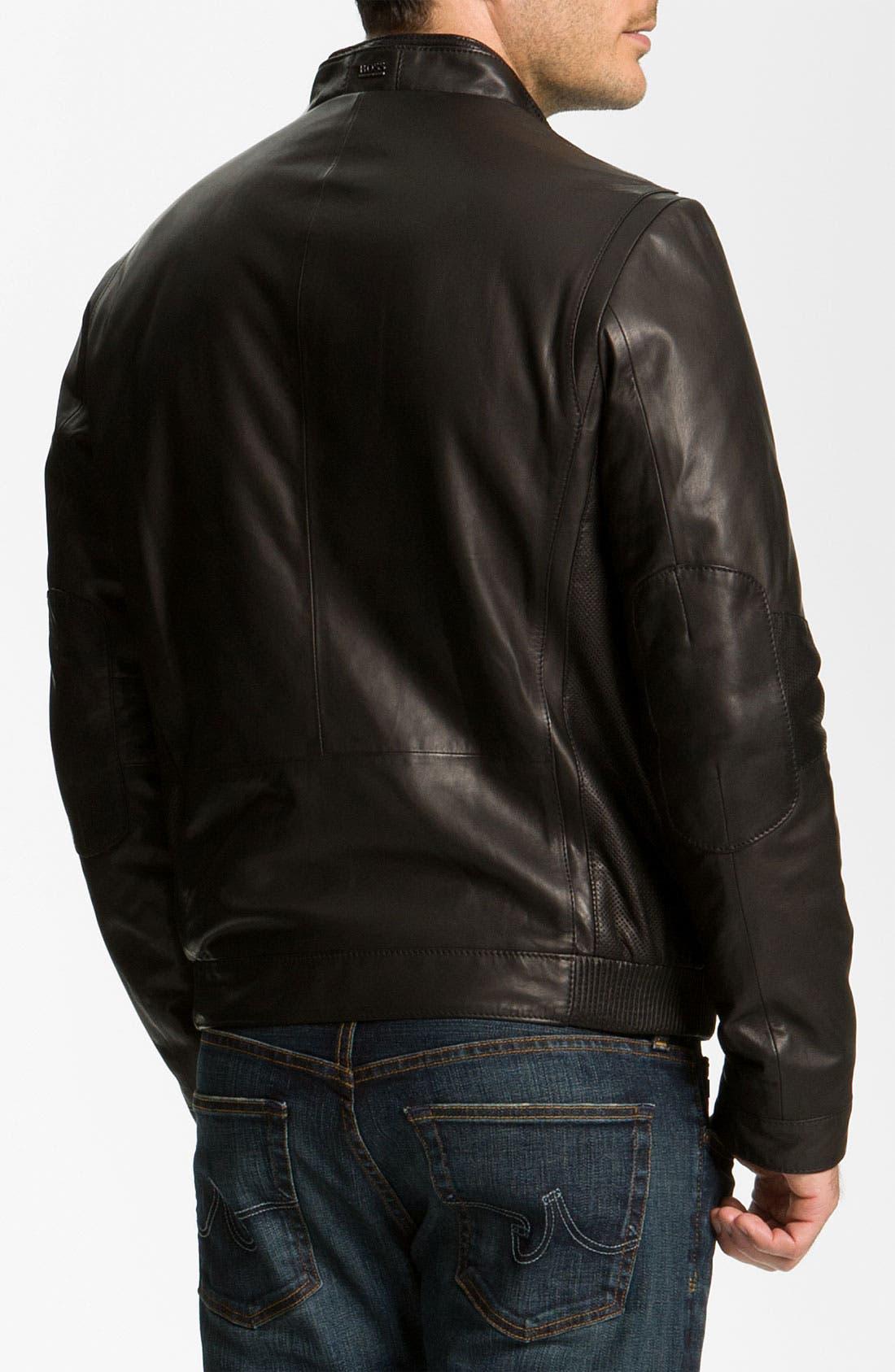 Alternate Image 2  - BOSS Black 'Nekun' Leather Jacket
