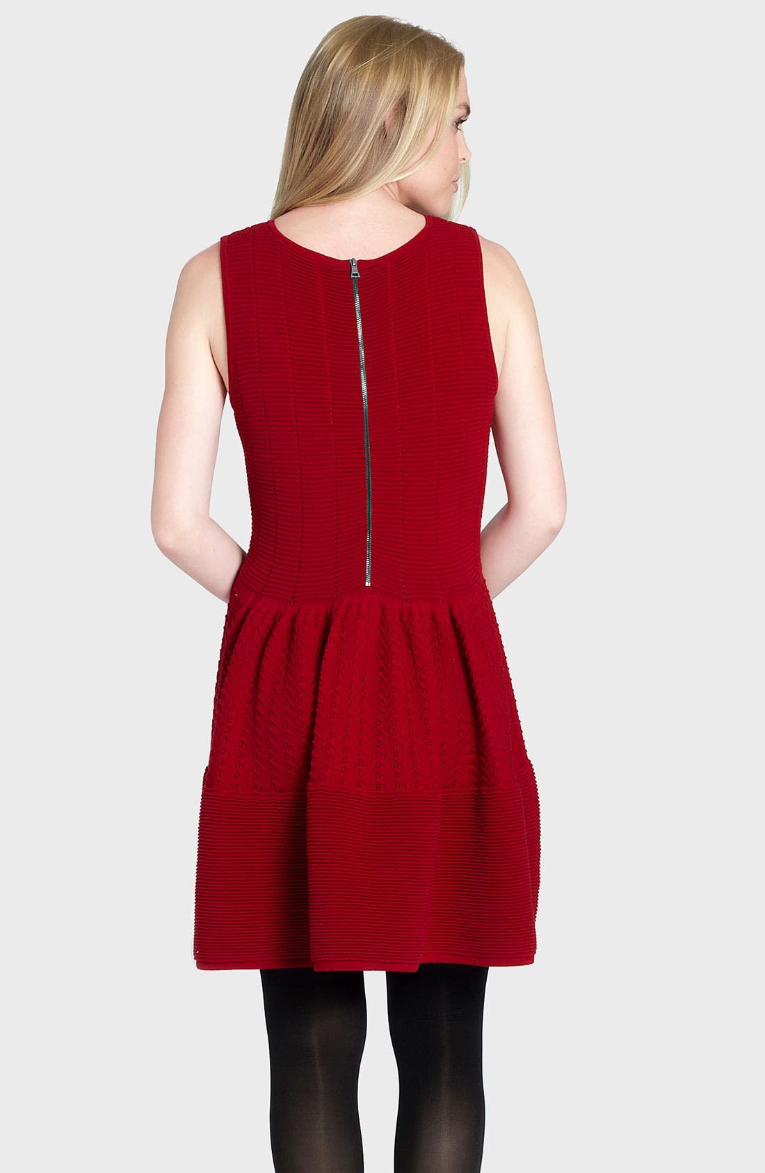 Alternate Image 2  - Cynthia Steffe 'Carly' Pointelle Wool Blend Sweater Dress