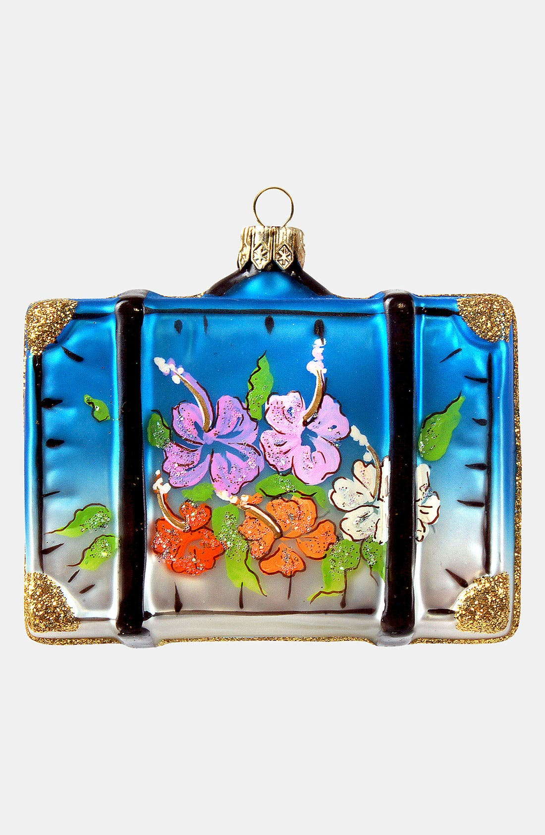 Alternate Image 2  - Nordstrom at Home 'Hawaii' Glass Suitcase Ornament
