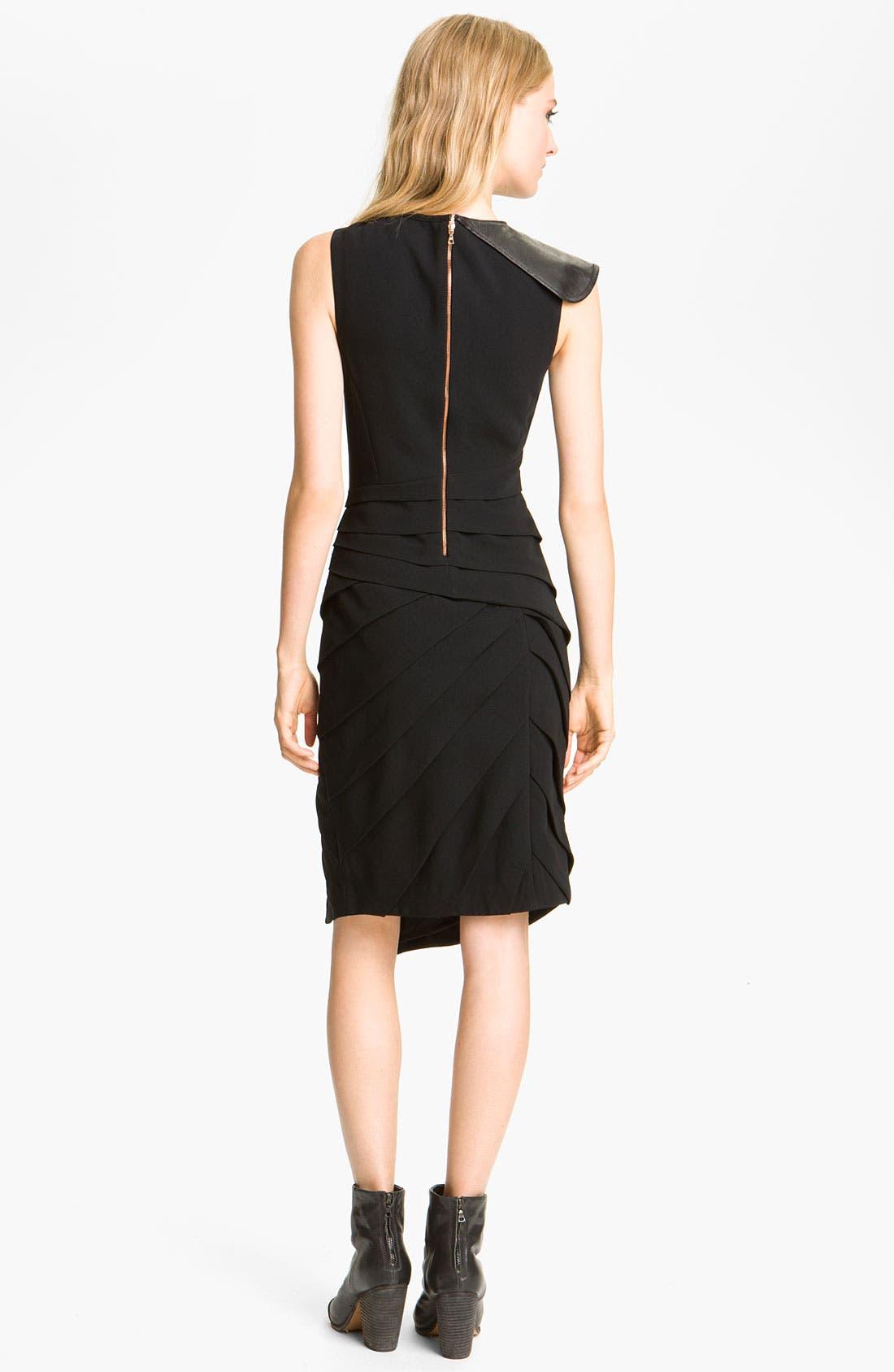Alternate Image 2  - rag & bone 'Origami' Leather Trim Dress