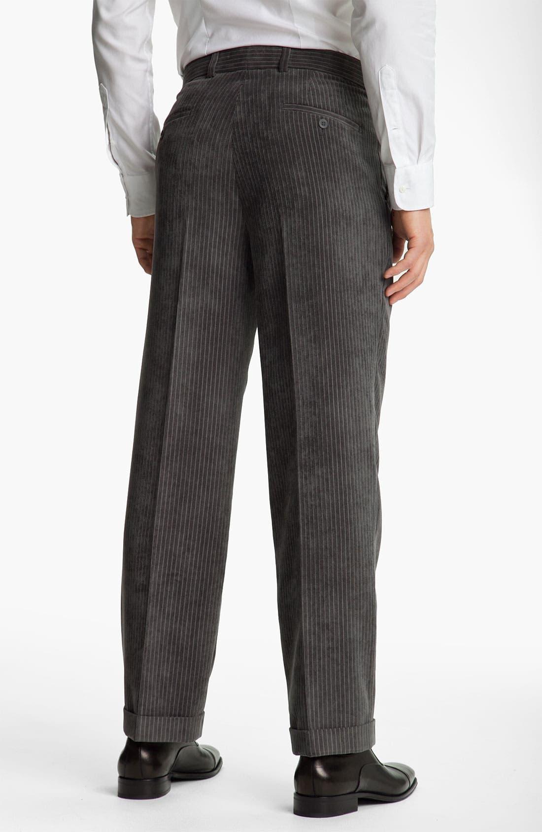 Alternate Image 2  - Linea Naturale 'Striped Micro-Aire' Corduroy Trousers