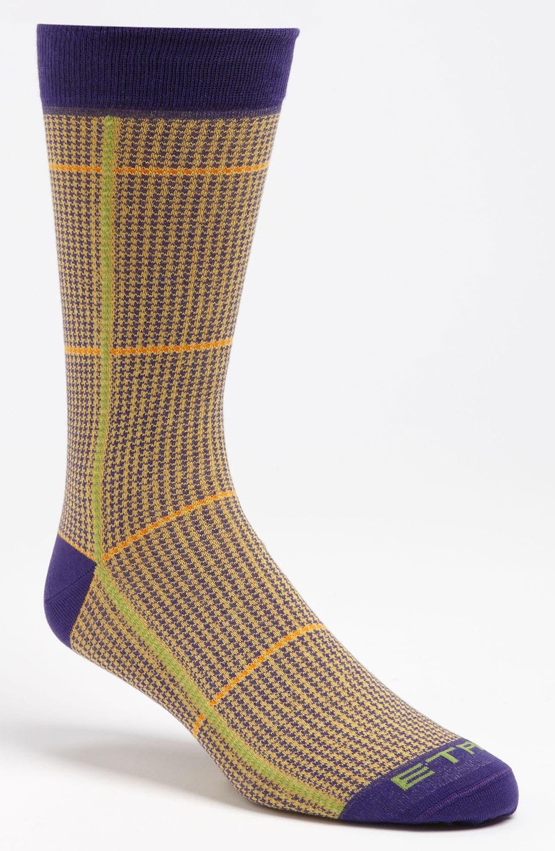 Alternate Image 1 Selected - Etro Houndstooth Cotton Blend Socks