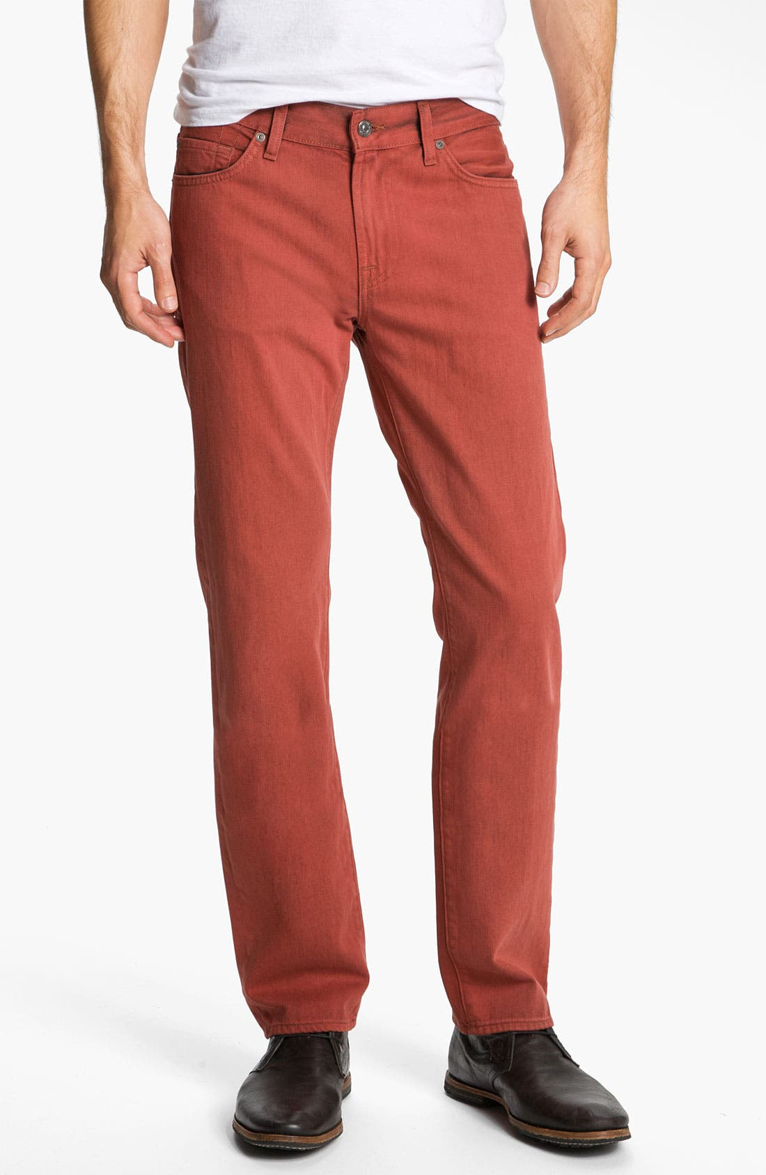 Alternate Image 2  - 7 For All Mankind® 'Slimmy' Slim Straight Leg Jeans (Spicy Red)