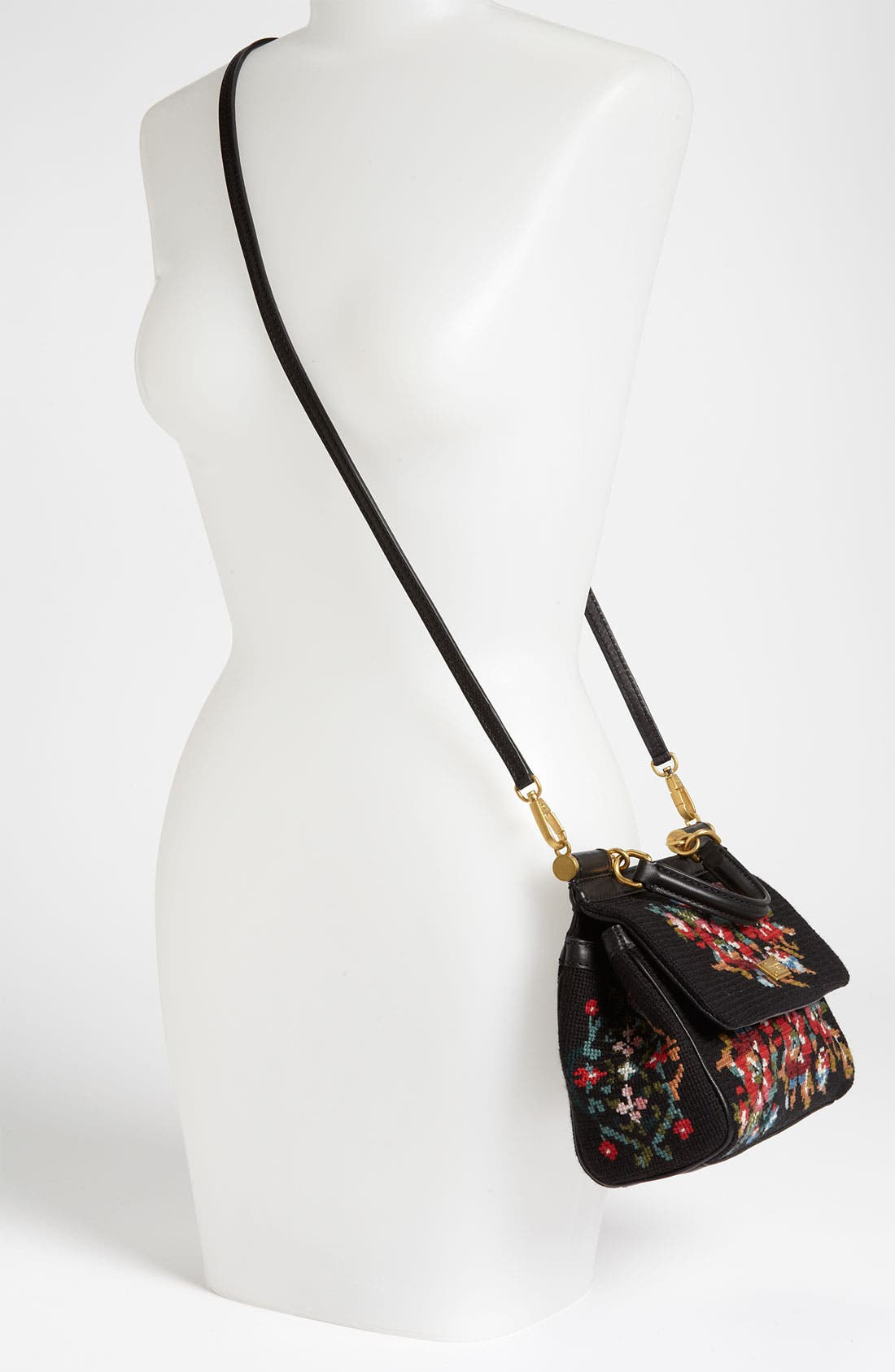 Alternate Image 2  - Dolce&Gabbana 'Miss Sicily - Mini' Needlepoint Handbag