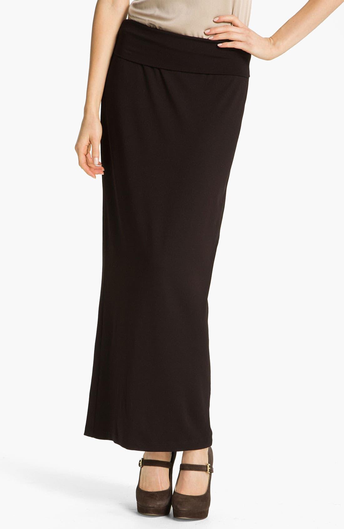 Alternate Image 1 Selected - Eileen Fisher Fold Over Slim Maxi Skirt