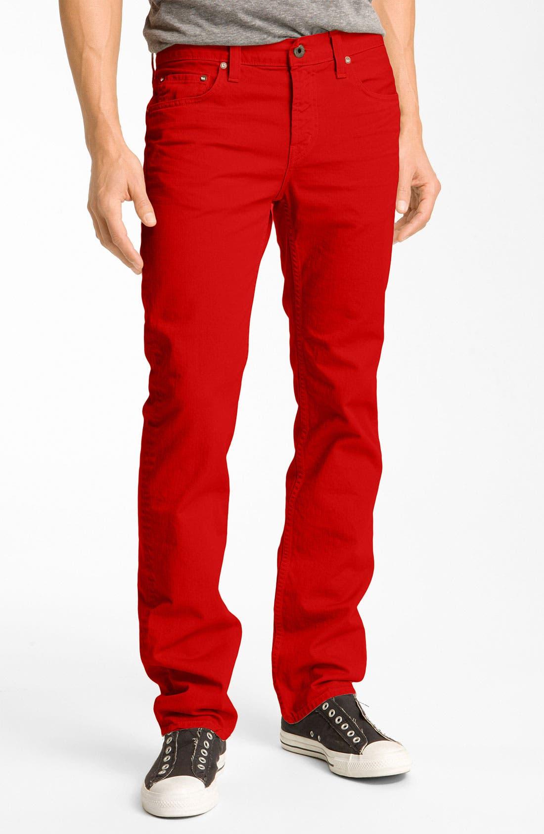 Alternate Image 2  - J Brand 'Kane' Slim Straight Leg Jeans (Buoy Red)