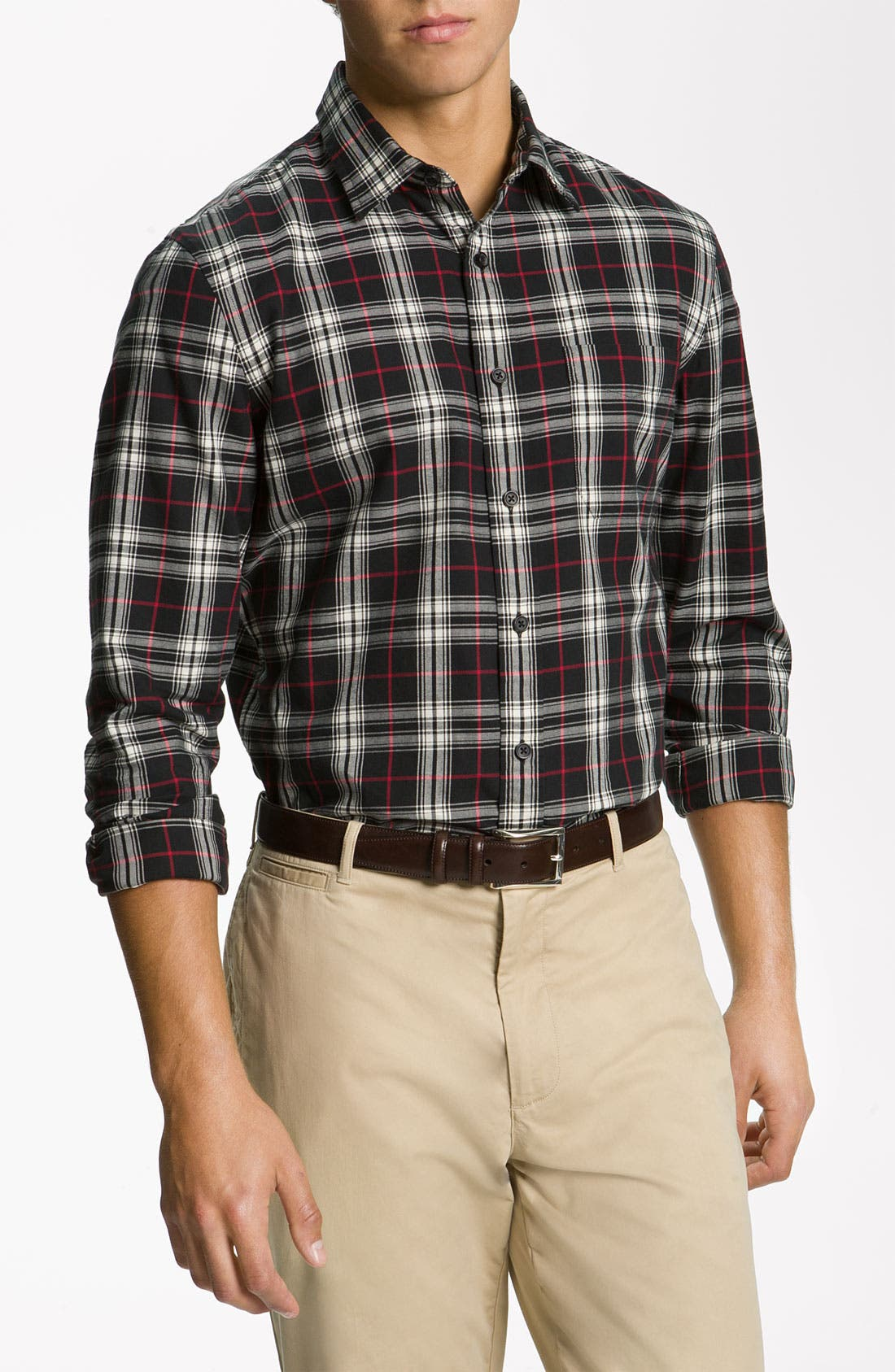 Alternate Image 1 Selected - Wallin & Bros. Plaid Sport Shirt