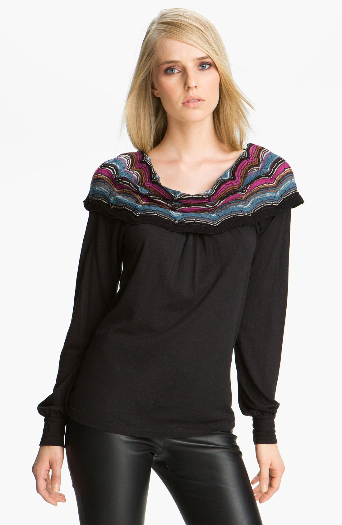 Main Image - M Missoni Cowl Neck Jersey Tee